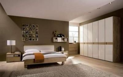 nowoczesna sypialnia z meblami na wymiar